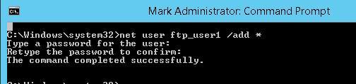 net user add