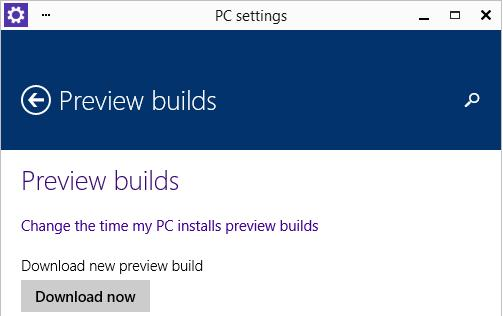 Windows 10 - download update build