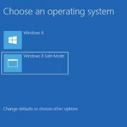 Windows 8 safe mode option in boot menu