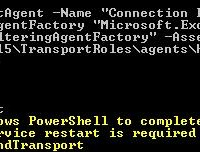 Install Connection Filtering agent on Exchange Server 2013