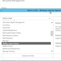 """Mailbox Import Export"" role in Exchange 2013"