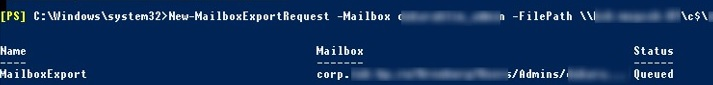 How to Import and Export Mailbox to PST in Exchange 2016