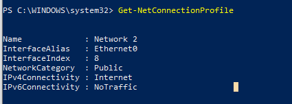 Get-NetConnectionProfile