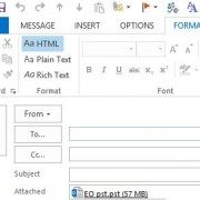 Increase max attachment size Outlook 2013