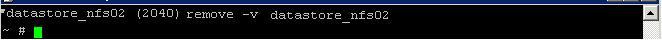 remove NFS datastore