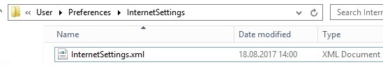 InternetSettings.xml IE policy file