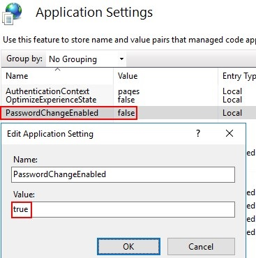 PasswordChangeEnabled password reset option in RD WebAccess on Windows Server 2016