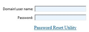 adding password change link to rdweb login page