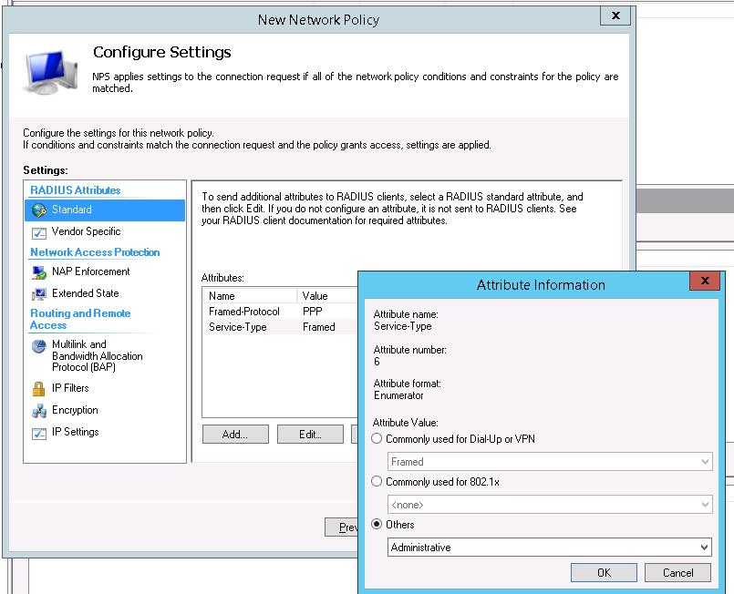 Configure network policy settings