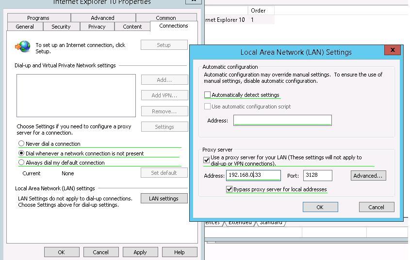 Configure Internet Explorer 10 / 11 proxy settings using GPO in Windows 2012
