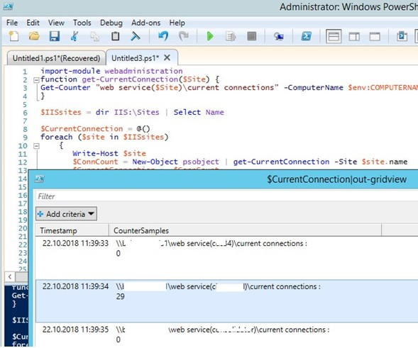 How to See Number of Active User Sessions on IIS site