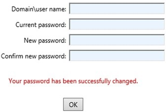 RDWeb - Your password has been successfully changed