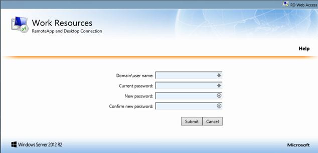 Allow Users to Change Expired Password via Remote Desktop Web Access