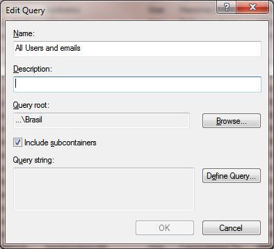 Edit query properties