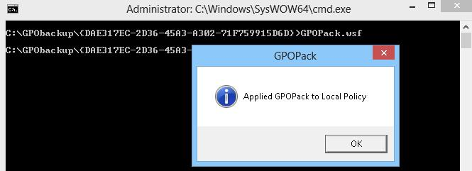 Applied GPOPack to Local Policy