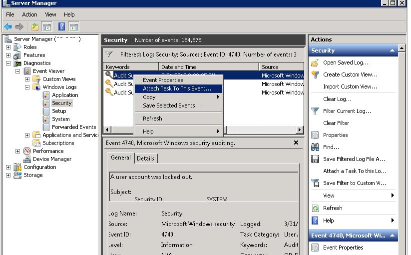 Attach Task To Windows Event