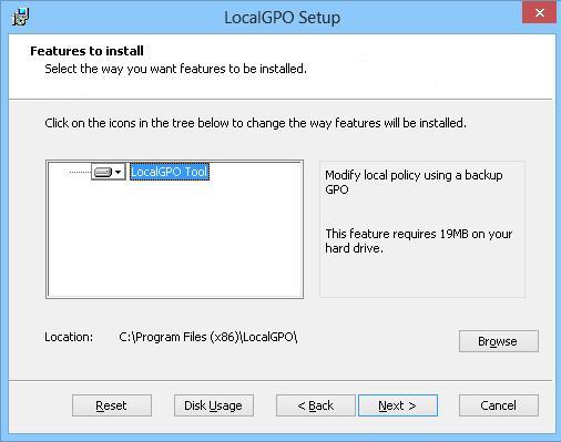 Setup LocalGPO tool