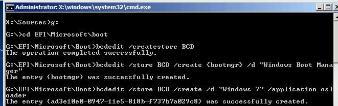 create bcd store