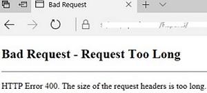 iis: kerbers http error 400 header too long