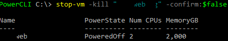 PowerCLI stop-vm -kill