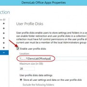 user profile disks path and size limit