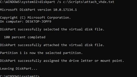 testing diskpart