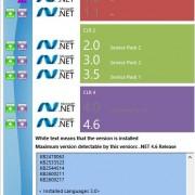 dot NET version detector