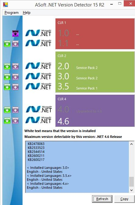 dot NET version detector