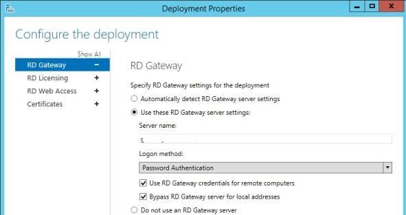 RD Gateway deployment