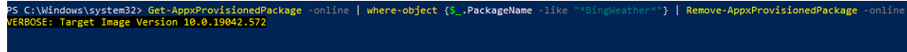 Remove-AppxProvisionedPackage - uninstall provisioned appx from windows image using powershell