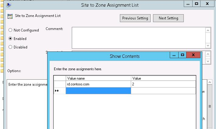Site to Zone assignment : trusted zone