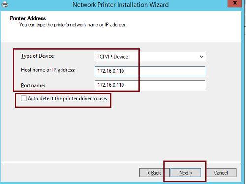 Créer un périphérique d'imprimante IP