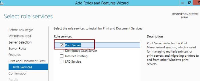 Serveur d'impression Windows Server 201 2R2
