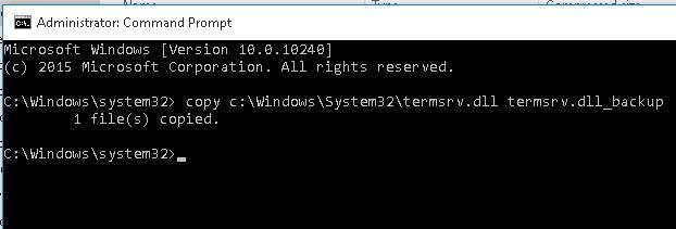 backup original termsrv.dll
