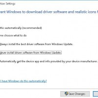 Disable drivers update via Windows Update