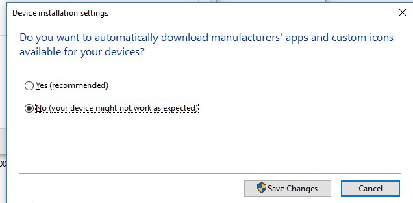 Do you want to automatically download manufacturers' apps and custom icons available for your device