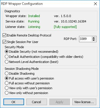 Rdp wrapper windows 10