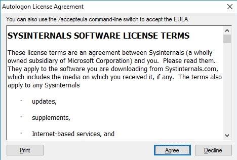 sysinternals autologon tool