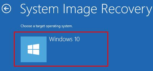 Image result for system image recovery Windows 10