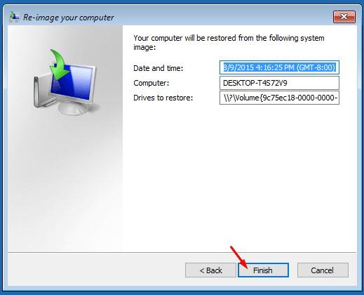 Windows10 restore from image backup