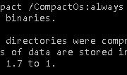 Compressing OS binaries