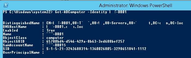 Get-ADComputer -Identity