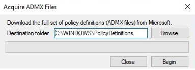download latest admx files in window 10