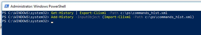 export import powershell history