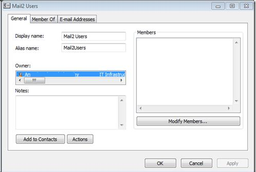 mail group in Offline Address Book with hidden membership