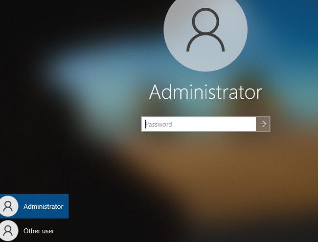 hidden admiinstrator account on windows 10