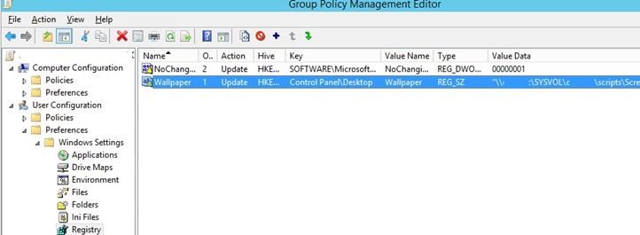 set desktop wallpaper via registry keys in gpo