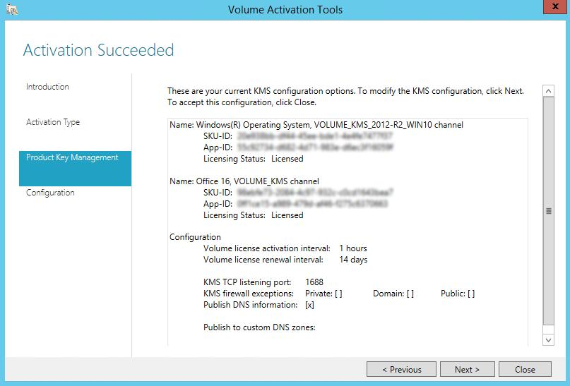 Configuring KMS Server for MS Office 2019/2016 Volume