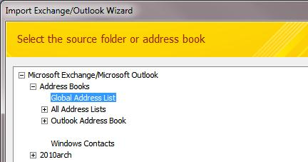 Export Exchange Global Address List (GAL) to CSV | Windows