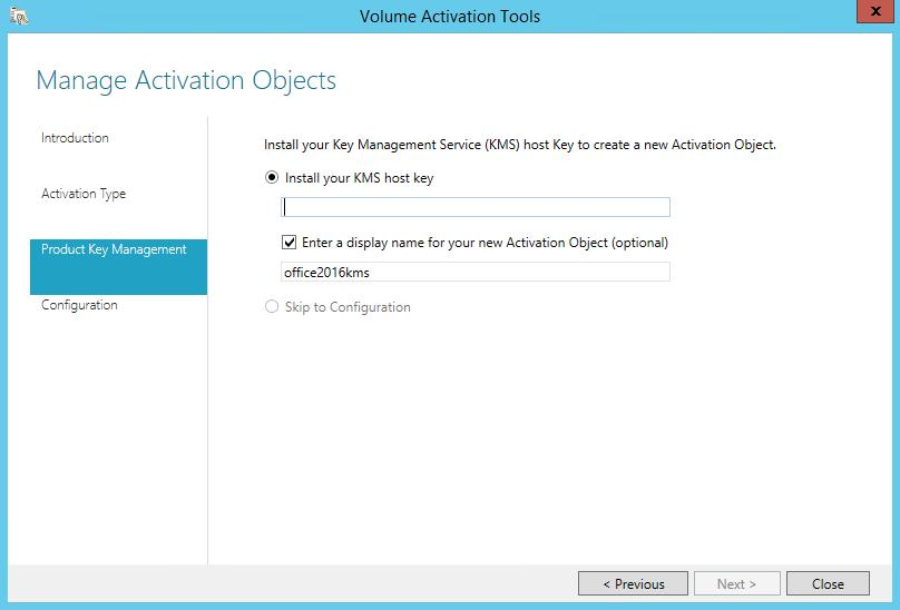 install kms host key for ms office 2016